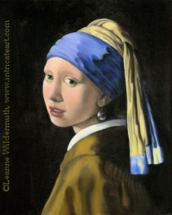 Girl With A Pearl Earring Vermeer Tribute