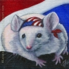 patriotic harley mouse oil painting bandana original art