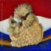 polish chicken barnyard wildlife art oil painting