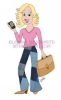 custom illustration caricature crunchy republican blonde woman