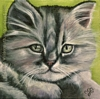 custom cat kitten portrait oil painting fine art