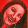 custom monochromatic red oil painting girl child people portrait original realistic fine art