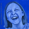 custom monochromatic blue oil painting girl child people portrait original realistic fine art