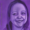 custom monochromatic violet purple oil painting girl child people portrait original realistic fine art