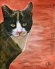 calico cat portrait oil painting realism original realistic fine art