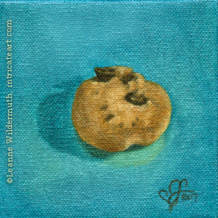 still life oil painting mini chips ahoy candy food eye ate it series