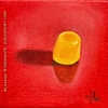 still life oil painting yellow dot candy food eye ate it series