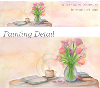 Crystal Craig custom web logo watercolor painting cafe soft pastel