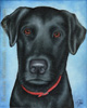 Custom Dog Portrait Caesar black lab Labrador retriever oil painting original traditional realistic fine art leanne wildermuth