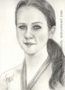 Custom Portrait Miranda pencil graphite drawing art by Leanne Wildermuth