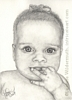 Custom baby portrait Juliet pencil graphite drawing art by Leanne Wildermuth