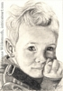 child boy portrait pencil graphite drawing art by Leanne Wildermuth
