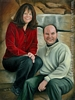 custom portrait people couple engagement oil painting art by Leanne Wildermuth