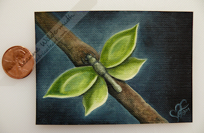 Drabulea ACEO ATC artist trading card Leanne Wildermuth oil painting