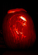 Pumpkin Carving Zombie by John Anderson