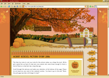 petroville fall blog design
