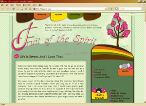 fruit of the spirit custom wordpress blog design' class=