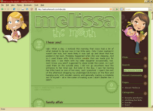 custom blog design brown green chick wordpress' class=