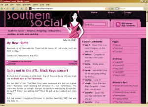 southern social custom blog design ewebscapes wordpress pink black atlanta blog' class=
