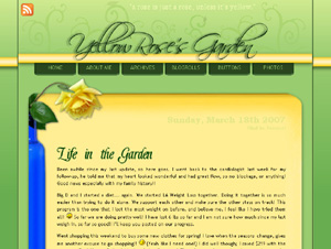 yellowroses garden custom blog design