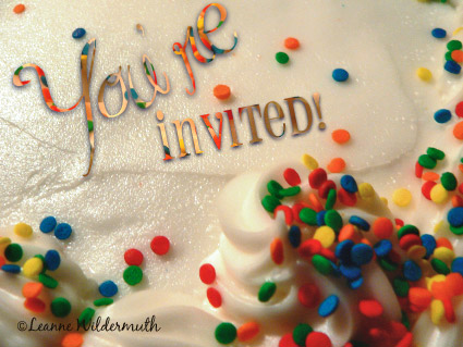 birthday cake blog party invite photo