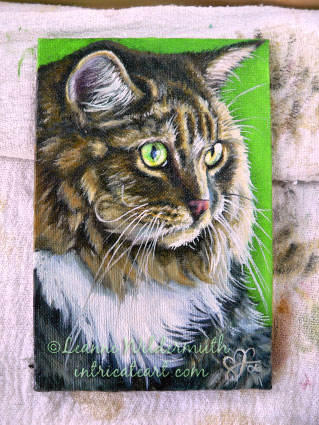 custom cat portrait oil painting original
