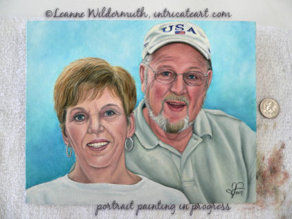 custom portrait mom dad grandparents oil painting fine art realism leanne wildermuth