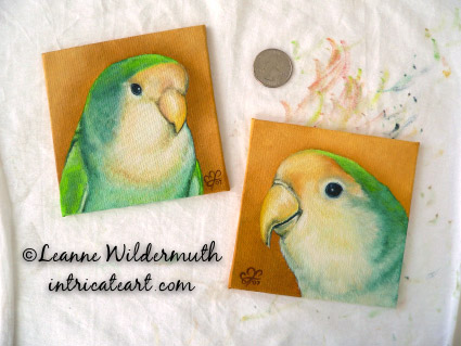 custom lovebird portraits oil paintings birds