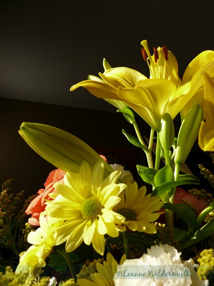 yellow Asiatic lilies lily bouquet