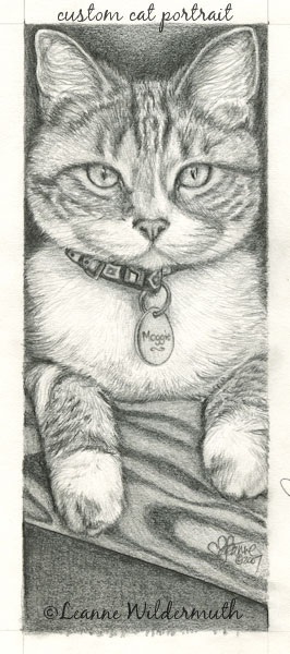 custom cat portrait graphite pencil drawing sketch original artist art' class=