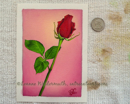 red rose original oil painting love custom art