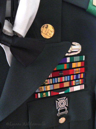 military uniform ball black tie ribbons