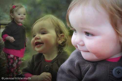 Sophie toddler photography collage portrait by Leanne Wildermuth