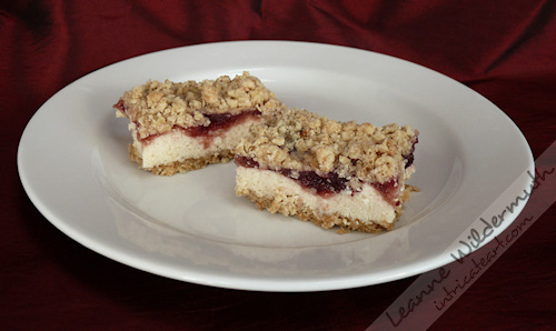 cranberry cheese bars photo by Leanne Wildermuth