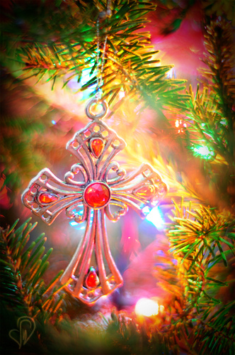 cross ornament photography by Leanne Wildermuth