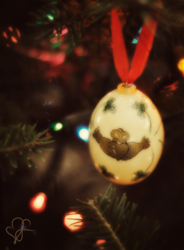 irish blessing egg ornament photo by Leanne Wildermuth