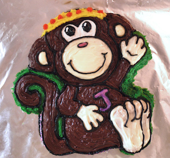 monkey cake chickeymonkey birthday leanne wildermuth
