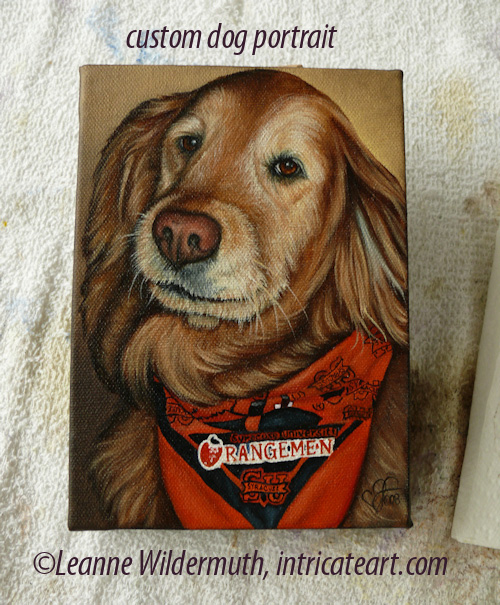 custom dog portrait golden retreiver painting leanne wildermuth