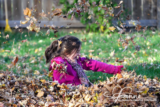 Fall 2010 playing in the leaves photo by Leanne Wildermuth