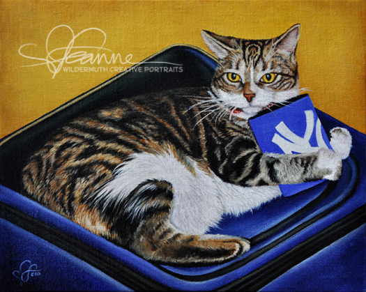 Custom cat portrait painting in oil by Leanne Wildermuth