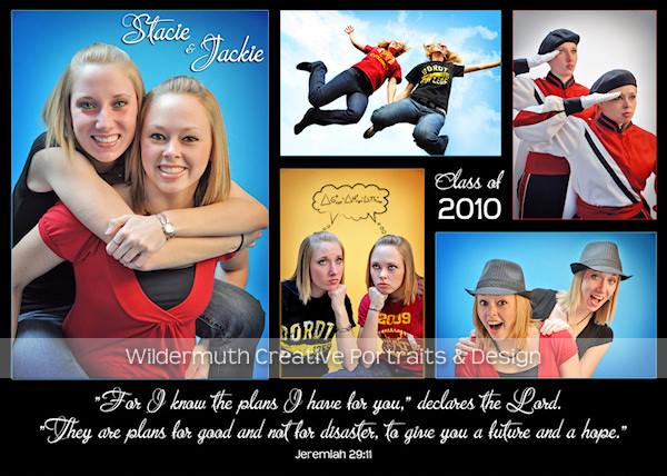 Quad City senior photography graduation postcard design by Leanne Wildermuth