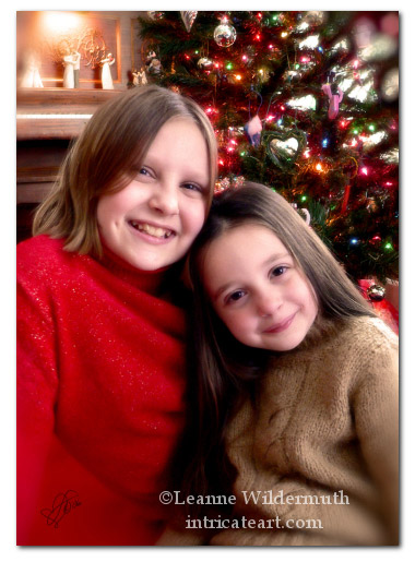 anatomy of a christmas portrait photography children girls