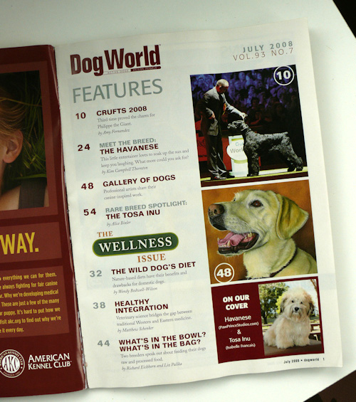dog world magazine inside contents