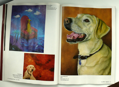 dog world magazine dog art inside july 2008 issue