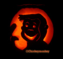 george monkey pumpkin carving