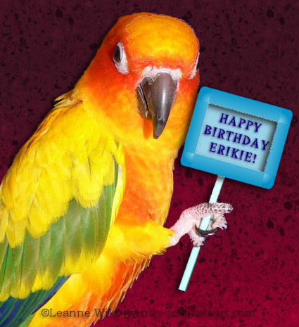Happy Birthday chickie! Hugs to your mom too, for putting up with you for