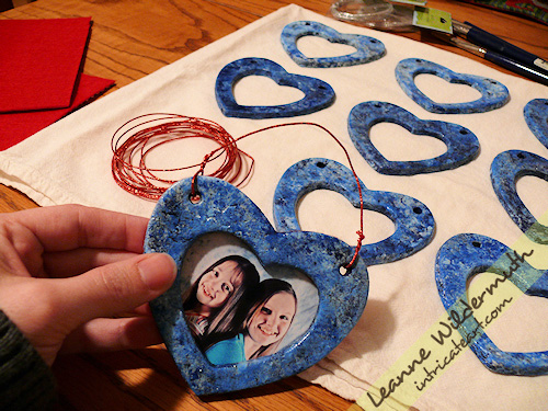 photo dough ornaments by Leanne Wildermuth