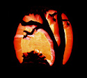 Pumpkin Carving Last Leaves by Leanne Wildermuth' class=